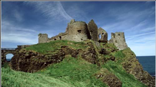 Antrim Dunluce Castle Outside