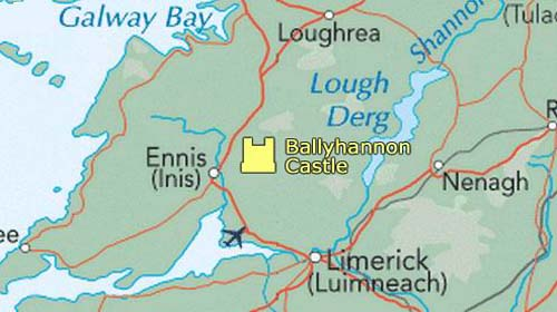 Ballyhannon Castle map