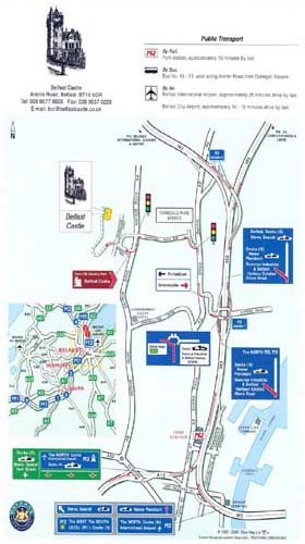 Belfast Castle Antrim Map