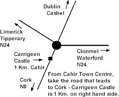 Carrigeen Castle Tipperary map